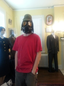 Wearing history during a museum field day.