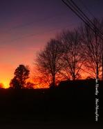 Sunset over SlowMoneyFarm 'the Office'.