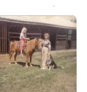 April on Joe, me and Jerry, taken at the Bureau county fairgrounds 4-H fair.